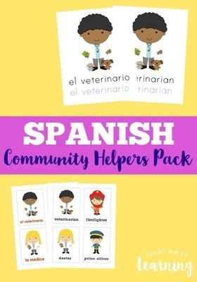 Spanish Community Helpers Printables Pack