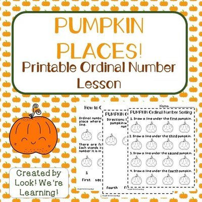 Pumpkin Places Preschool Ordinal Number Lesson