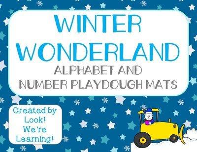Preschool Playdough Mats: Winter Literacy Mats