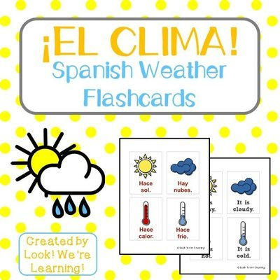 Printable Spanish Weather Flashcards
