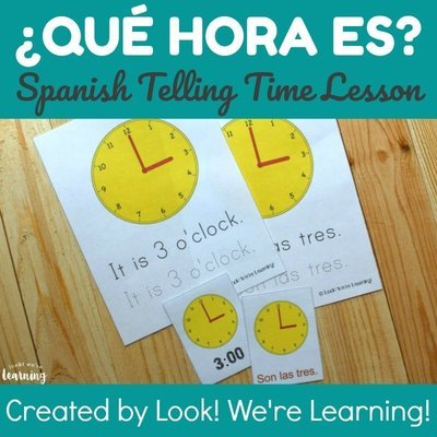 Spanish Telling Time Lesson for Kids