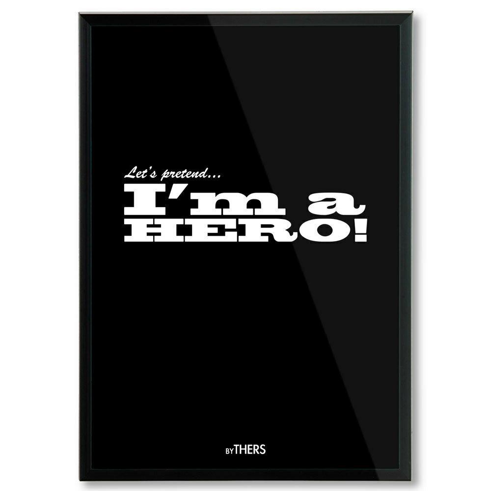 Hero (black), A4 - LAGERSALG