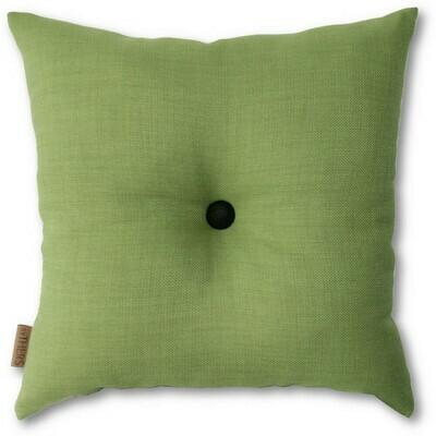 Grøn pude med knap
