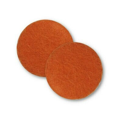 Sæt af 2 knapper til design-selv puder / Orange
