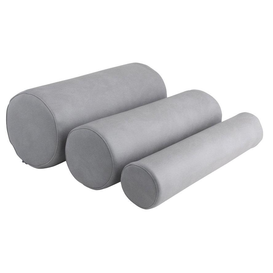 Cylinderkudde Grå med Hård Kärna