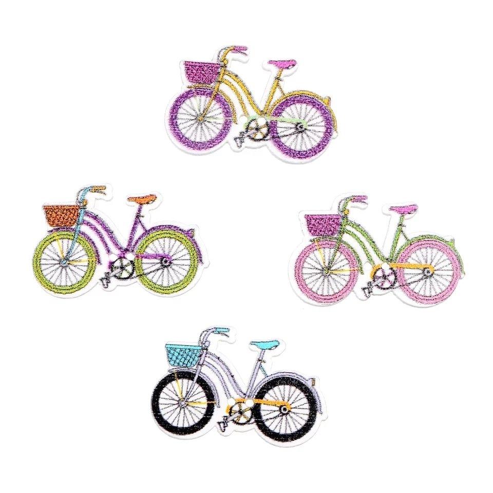Bicicleta Botón Madera  10 unidades