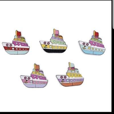 Cruceros Botón Madera 10 unidades