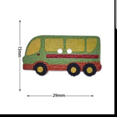 Botón Madera Microbús 10 unidades