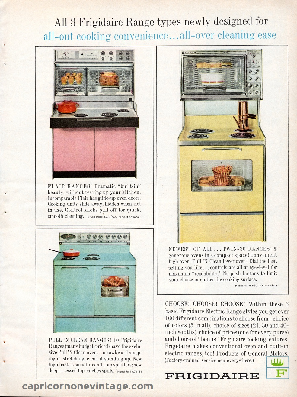 Vintage Advertising Retro Kitchen Decor 1960s Kitsch Electric Range