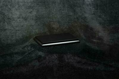 Wooden Base Black, 105x45x15mm - Sockel - Andrea