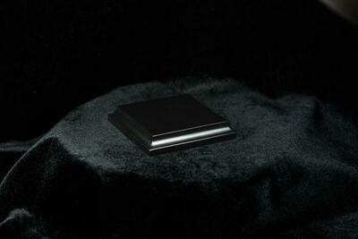 Wooden Base Black, 69x69x15mm - Sockel - Andrea