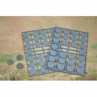 Steinpflaster Bases Rund 25 mm (52) - Warlord Games