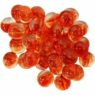 Red Catseye Glass Gaming Stones (40+) - Chessex