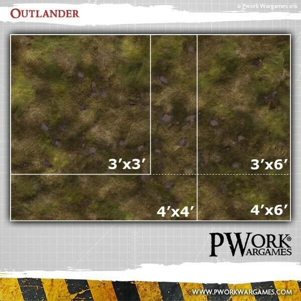 Sumpf Outlander - Spielmatte - P-Work-Wargames - 3'x3' Fuss