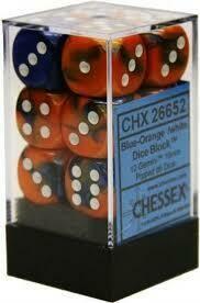 Blue-Orange/White - 16mm (12) - Chessex