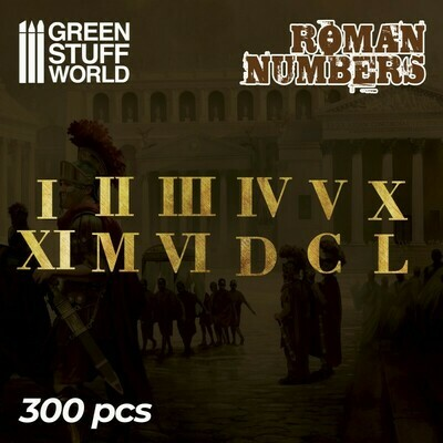 Römische Zahlen Roman Numbers - Greenstuff World
