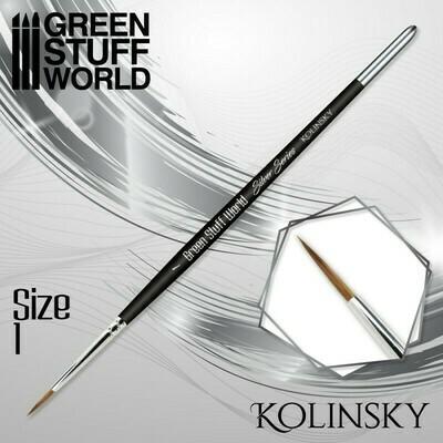 SILVER SERIES Kolinsky Haarpinsel - 1 - Greenstuff World