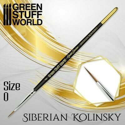 GOLD SERIES Sibirischer Kolinsky Haarpinsel - 0 - Greenstuff World