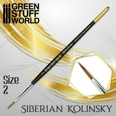 GOLD SERIES Sibirischer Kolinsky Haarpinsel - 2 - Greenstuff World