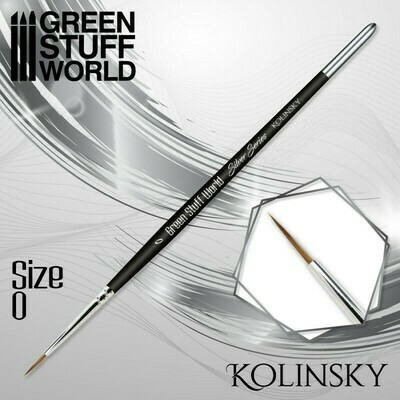 SILVER SERIES Kolinsky Haarpinsel - 0 - Greenstuff World