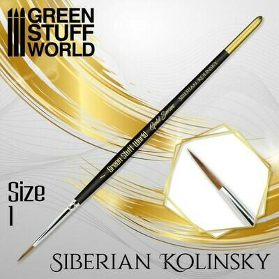 GOLD SERIES Sibirischer Kolinsky Haarpinsel - 1 - Greenstuff World