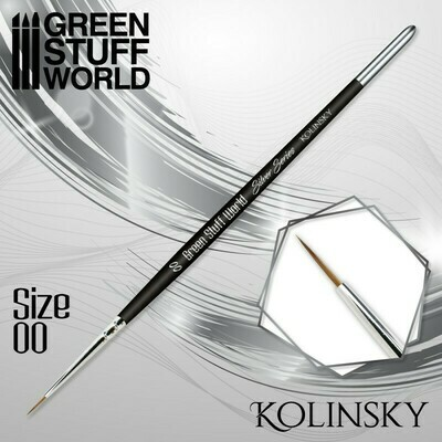 SILVER SERIES Kolinsky Haarpinsel - 00 - Greenstuff World