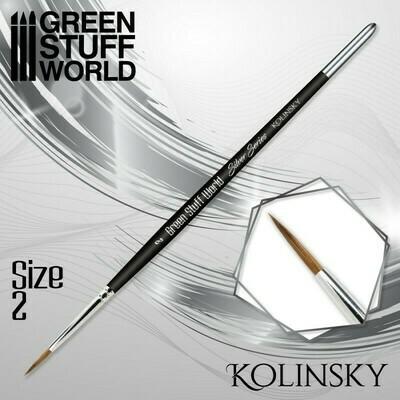 SILVER SERIES Kolinsky Haarpinsel - 2 - Greenstuff World