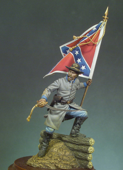 Confederate Standard Bearer (1862) - 54mm - Andrea Miniatures