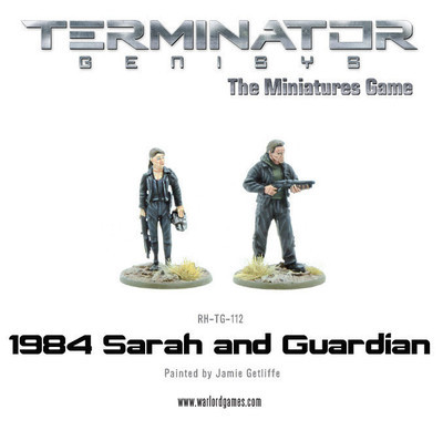 1984 Sarah and Guardian (metal) - Terminator Genisys - River Horse