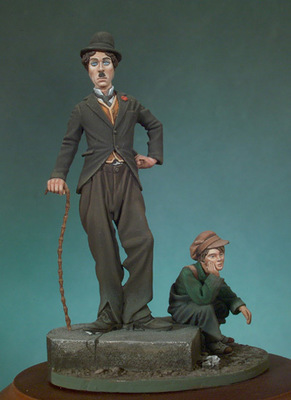The kid and the tramp - 54mm - Andrea Miniatures