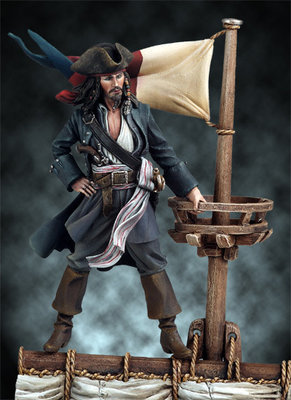Buccaneer, 1645 - 54mm - Andrea Miniatures