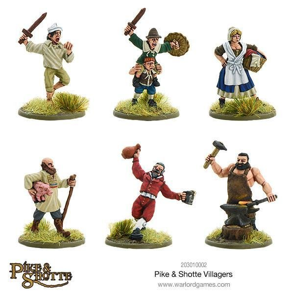 Villagers Dorfbewohner - Pike & Shotte - Warlord Games