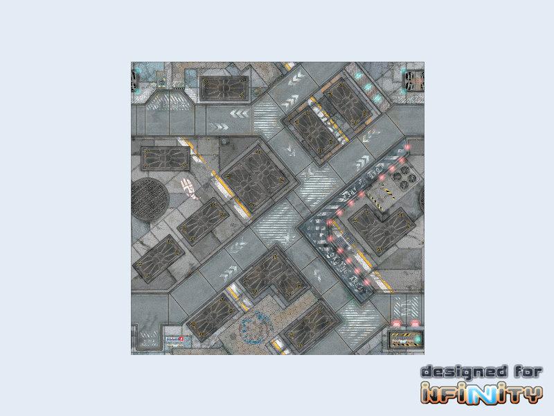 War Game Mat - 48x48inch - District 5 Infinity - Spielmatte - Micro Art Studio