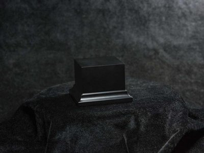 Wooden Base Black, 58x58x50mm - Sockel - Andrea