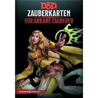 Dungeons & Dragons - Zauberkarten für arkane Zauberer - DE