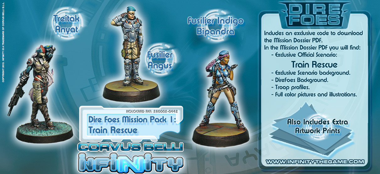Dire Foes Mission Pack 1: Train Rescue - Mission Packs - Infinity