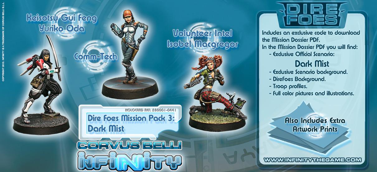 Dire Foes Mission Pack 3: Dark Mist - Mission Packs - Infinity