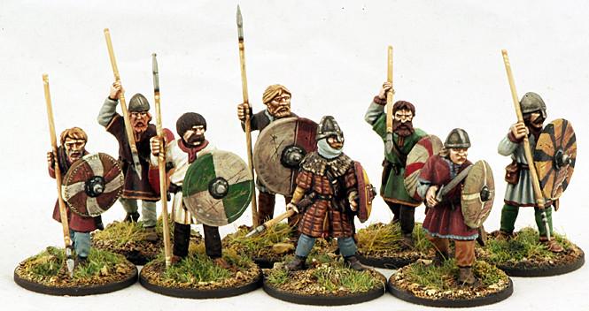 Anglo-Danish Ceorls (Warriors) (8) 1 pt - SAGA - Anglodänen