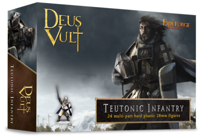 Teutonic Infantry (24 infantry plastic figures) - Deus Vult - Fireforge Games