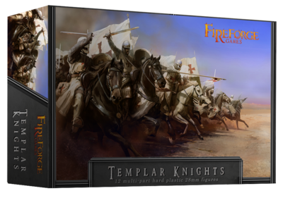 Templar Knights Cavalry (12 mounted plastic figures) - Deus Vult - Fireforge Games