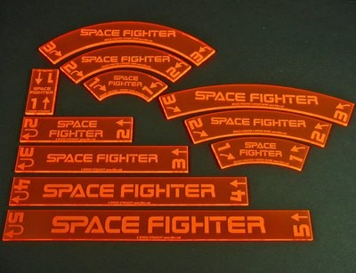 Space Fighter, Deluxe Gauge Set - Translucent Red - Litko