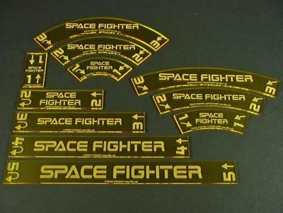 Space Fighter, Deluxe Gauge Set - Fluorescent Yellow - Litko