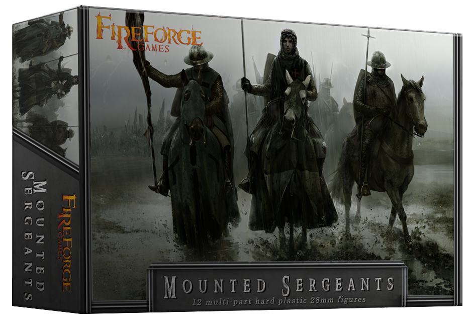 Mounted Sergeants (12 mounted plastic figures) - Fireforge Games