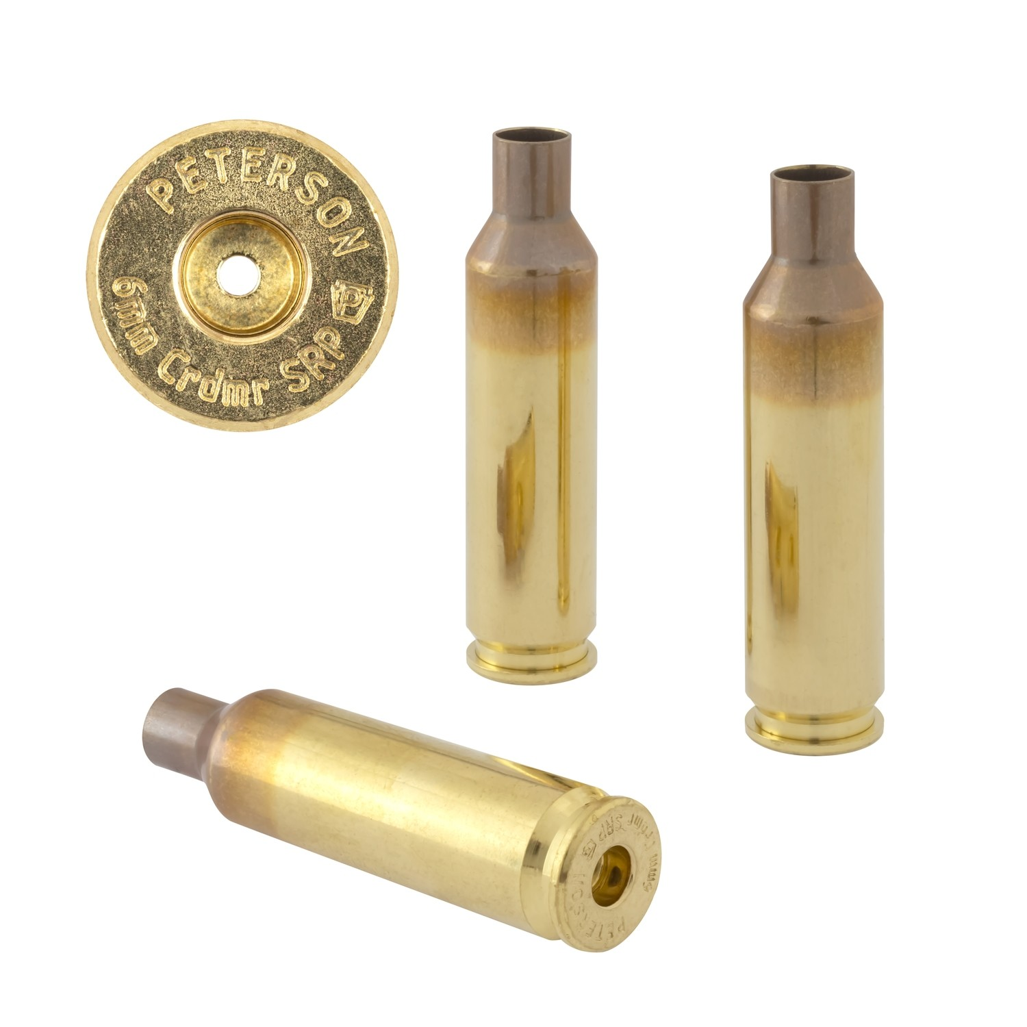 Peterson 6mm Crdmr SRP Select - Box of 50 Brass Rifle Casings