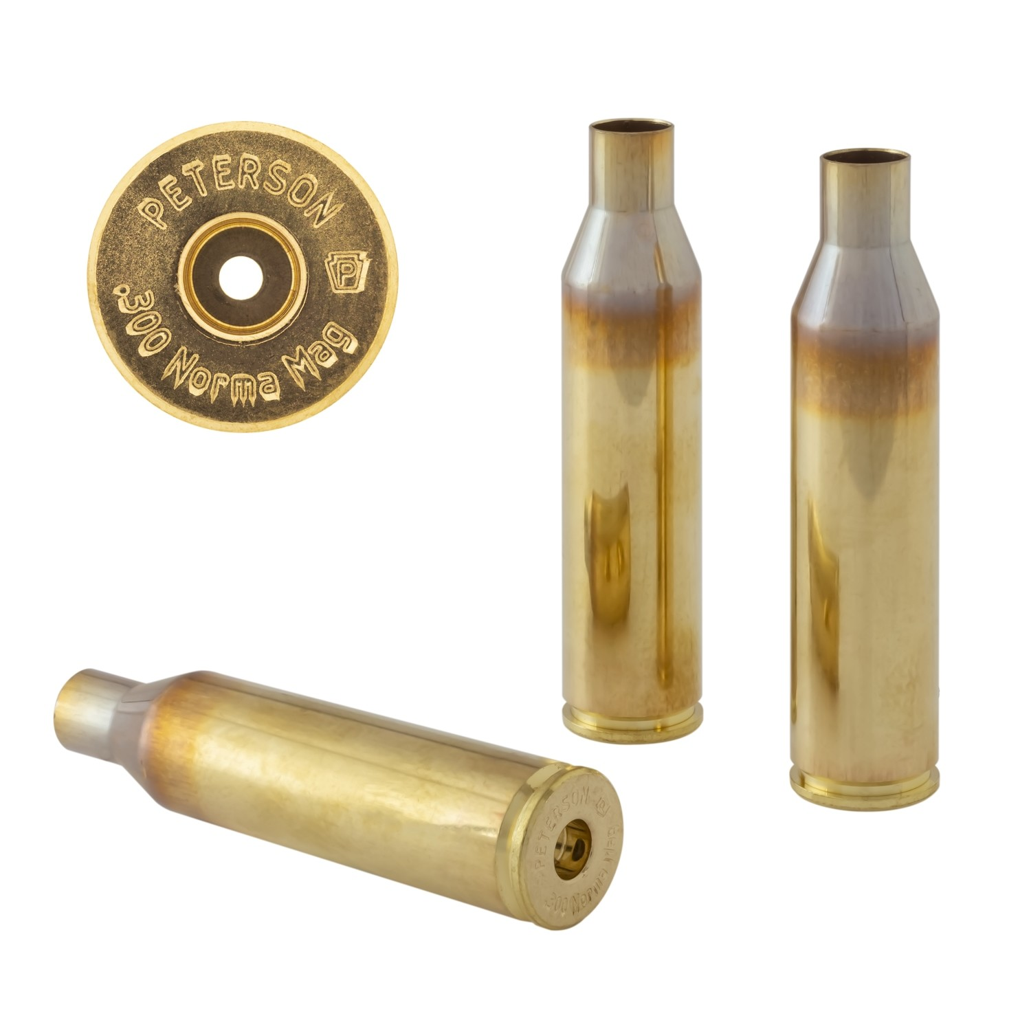 Peterson .300 Norma Mag Select - Box of 50 Brass Rifle Casings