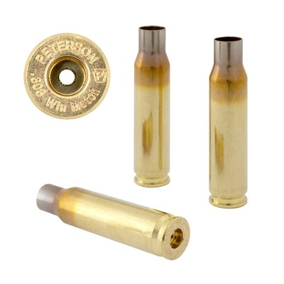 Peterson .308 Win Match Select - Box of 50 Brass Rifle Casings