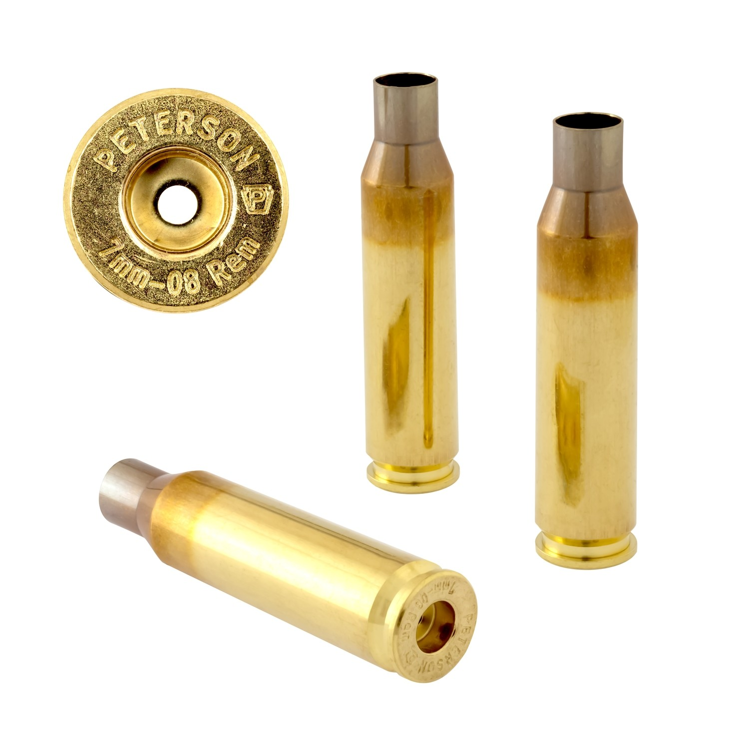 Peterson 7mm-08 Rem Select - Box of 50 Brass Rifle Casings