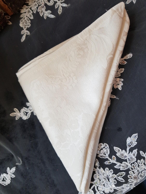 Servet damasc ivory 40x40 cm