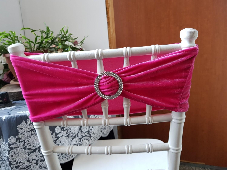 Esarfa catifea roz fucsia