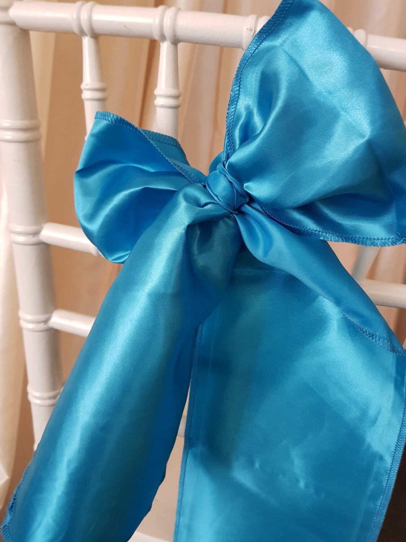 Esarfe 15x150 cm- satin albastru turcoaz